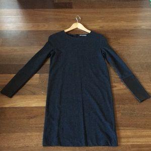 COS knit jersey straight dress leather cuff NEW XS